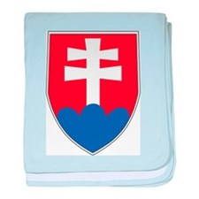 Slovakia Coat Of Arms baby blanket