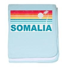 Retro Palm Tree Somalia baby blanket