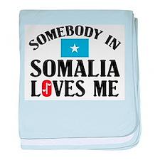 Somebody In Somalia baby blanket