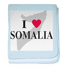I Love Somalia baby blanket