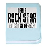 Rock Star In South Africa baby blanket