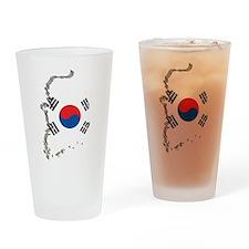 3D South Korea Pint Glass