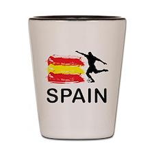 Spain Football Shot Glass