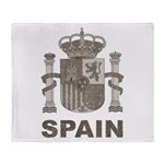 Vintage Spain Throw Blanket
