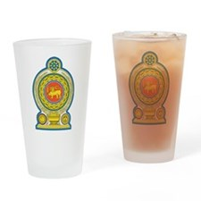 Sri Lanka Coat Of Arms Pint Glass