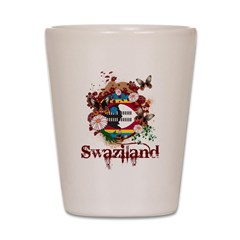 Butterfly Swaziland Shot Glass