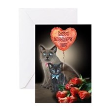 Happy Halloween Cats Card Greeting Cards