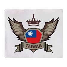 Taiwan Emblem Throw Blanket