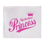 Tajikistani Princess Throw Blanket