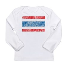 Vintage Thailand Flag Long Sleeve Infant T-Shirt