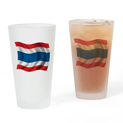 Wavy Thailand Flag Pint Glass