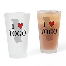 I Love Togo Pint Glass
