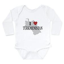 I Love Turkmenistan Long Sleeve Infant Bodysuit