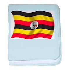 Wavy Uganda Flag baby blanket
