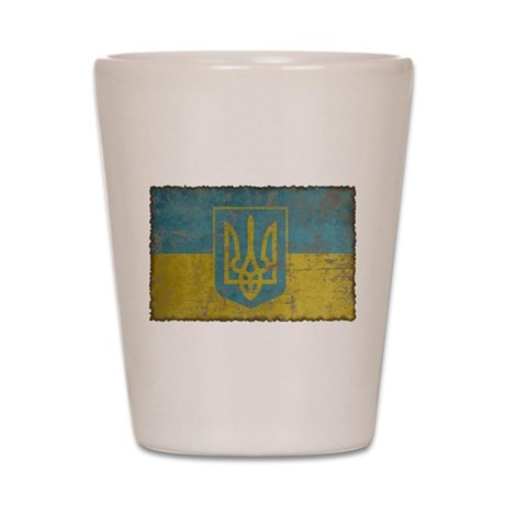 Vintage Ukraine Shot Glass
