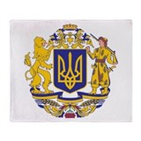 Ukraine Large Coat Of Arms Throw Blanket