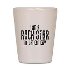 Rock Star In Vatican City Shot Glass