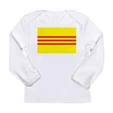 South Vietnam Flag 1955 Long Sleeve Infant T-Shirt