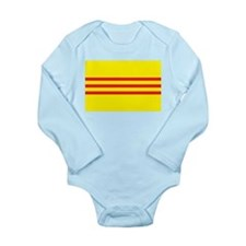 South Vietnam Flag 1955 Long Sleeve Infant Bodysui
