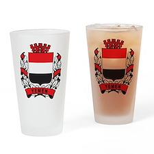 Stylish Yemen Crest Pint Glass