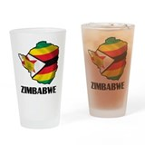 Map Of Zimbabwe Pint Glass