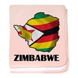 Map Of Zimbabwe baby blanket