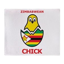 Zimbabwean Chick Throw Blanket