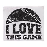 I Love This Game Throw Blanket