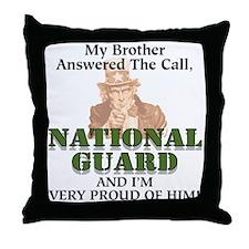 National Guard Brother Throw Pillow