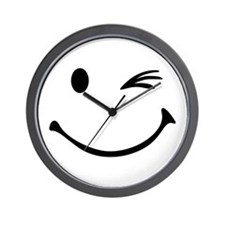 Smiley wink Wall Clock