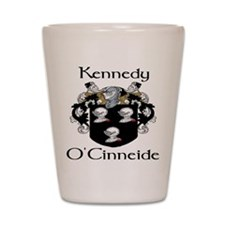 Kennedy in Irish and English Shot Glass