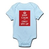 Keep Calm it's Only Spit-Up Infant Bodysuit