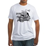 Two wheels move the soul Fitted T-Shirt