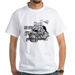 Two wheels move the soul White T-Shirt