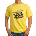 Two wheels move the soul Yellow T-Shirt