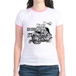 Two wheels move the soul Jr. Ringer T-Shirt