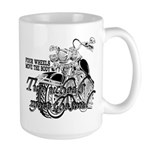 Two wheels move the soul Large Mug