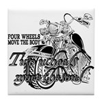 Two wheels move the soul Tile Coaster