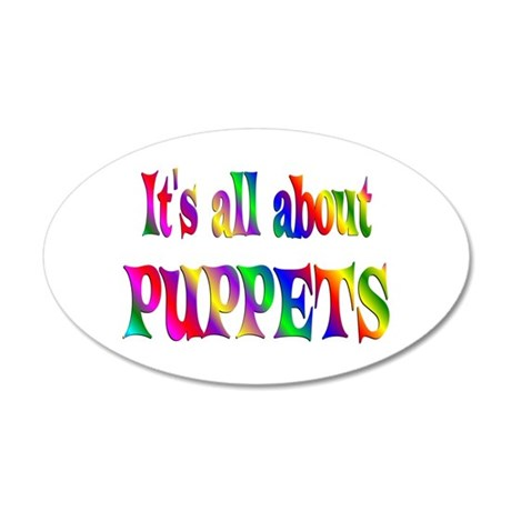 About Puppets 22x14 Oval Wall Peel