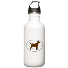 Chocolate Lab Outline Water Bottle