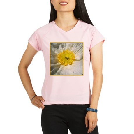 White Icelandic Poppy Performance Dry T-Shirt