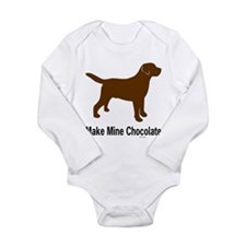 Make Mine Chocolate Lab Onesie Romper Suit