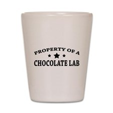 Property of Chocolate Lab Shot Glass