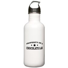 Property of Chocolate Lab Water Bottle