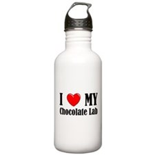 I Love My Chocolate Lab Water Bottle