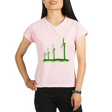 Green Wind Power Women's Sports T-Shirt