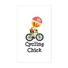 Cycling Chick Decal