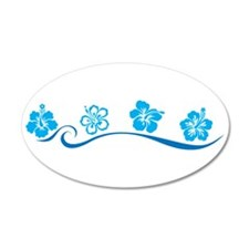Flower Beach 22x14 Oval Wall Peel