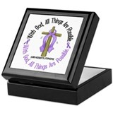 With God Hodgkin's Lymphoma Keepsake Box