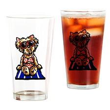 Beach Yorkie Pint Glass